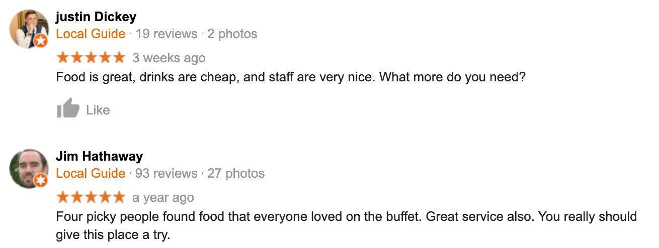 Chile Verde Google Reviews